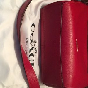Coach Bags - COACH Small Dufflette in Red Natural Leather